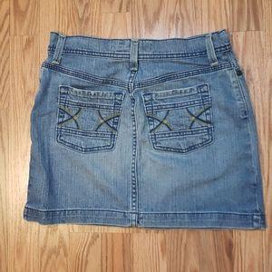 Cute Old Navy Jean Mini Skirt, stretch denim